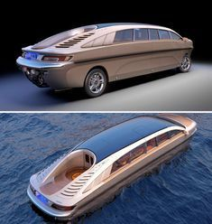 Amphibious: The Luxury of Moving by Sea or Land in the Same Vehicle - Anfibios, el lujo de moverse por mar y tierra con un solo vehículo Amphibious Vehicle, Lux Cars, Best Luxury Cars, Yacht Design, Boat Design, Yacht Boat, Futuristic Cars, Custom Vans, Water Crafts