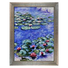 Water Lilies by Monet Framed Reproduction II