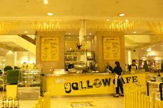selfridges - yellow cafe