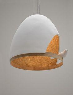 Coup de cœur pour la Lampe Oiseau créée par les architectes Olivier Chabaud et Jean-François Bellemère en association avec La Compagnie. Un objet doux et p