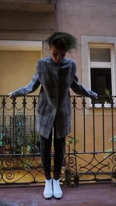 Wool vintage coat made in spain by TheBrokenClock on Etsy