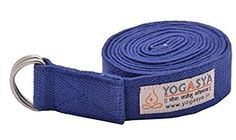 YOGASYA Fitness Exercise Yoga Strap with Durable Cotton Blue 8 -- Want additional info? Click on the image.  This link participates in Amazon Service LLC Associates Program, a program designed to let participant earn advertising fees by advertising and linking to Amazon.com.