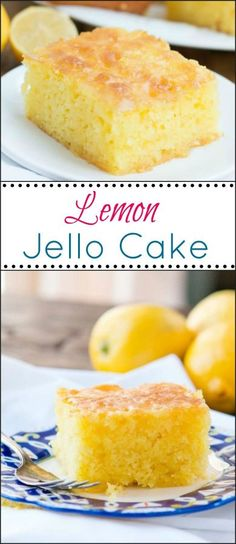 Lemon Jello Cake is perfect for anytime of the year. The fresh tastes of summer or to brighten the winter holiday meals. This Lemon Jello Cake is perfect for anytime of the year. The fresh tastes of summer or to brighten the winter holiday meals. Lemon Jello Cake, Jello Cake Recipes, Cake Mix Recipes, Lemon Cakes, Lemon Cake Recipe Using Lemon Jello, Lemon Jello Poke Cake Recipe, Easy Lemon Cake, Jello Flavors, Food Cakes