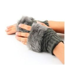 Women Fingerless Gloves Cute Faux Rabbit Fur Knitted Gloves Female Winter Knitting Warmer Wrist Hand Gloves Mitten 2016 Hot Sale Features: Soft Feather Imitation rabbit hair construction provides lasting comfort Wrist-length design adds sophisticated style. Keep you warm while your fingers can still function conveniently. A good gift for your friend. Specifications: Material: Imitation rabbit ...