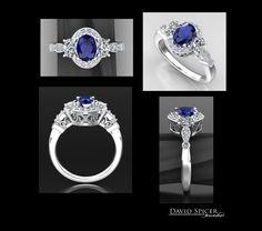 Oval Amethyst Diamond RIng