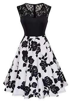 HOMEYEE Women's Vintage Chic Sleeveless Cocktail Party Dress (XXL, Black + White) Source by dresses cocktail Cute Prom Dresses, Dresses For Teens, Dance Dresses, Simple Dresses, Pretty Dresses, Homecoming Dresses, Beautiful Dresses, Short Dresses, Teen Fashion Outfits