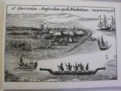 Thee earliest depiction of the dutch settlement in lower manhattan (1625-ish)