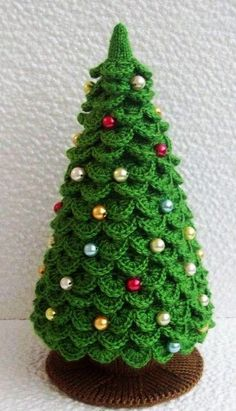 Homemade 2015 Christmas Tree Pattern Crochet Christmas Tree Skirt - Christmas Gifts, Christmas Craft, Jingle Bells - LoveItSoMuch.com