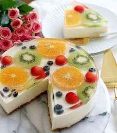 華やかで涼しげ~水玉レアチーズケーキ