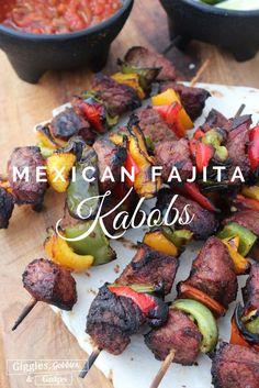 Mexican Fajita Kabobs are perfect for #CincoDeMayo...