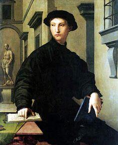 Agnolo Bronzino – Portrait de Ugolino Martelli (ca1537) Staatliche Museum, Berlin