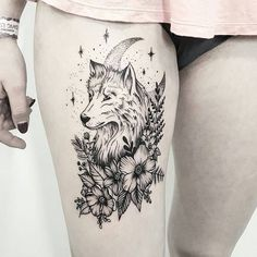 Cool wolf tattoo design ideas suitable for you who loves spirit animal 24