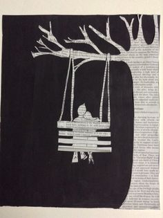 Newspaper art - Togetherness