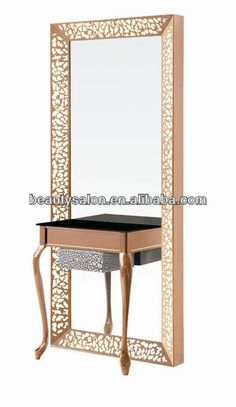 Source Hairdressing salon stainless steel single side mirror station on m.alibaba.com