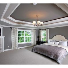 tray ceiling paint home design ideas pictures remodel and decor simple tray delivers online tools that help you to stay in control of your personal information and protect your online privacy. Style At Home, Tray Ceiling Bedroom, Home Design, Design Ideas, Baby Design, Ceiling Paint Colors, Ceiling Painting, Grey Ceiling, Recessed Ceiling
