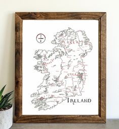 Ireland – Lord of Maps Washington State Map, Utah Map, Make A Map, California Map, Photo Online, Fantasy Books, Middle Earth, How To Look Pretty, Card Stock