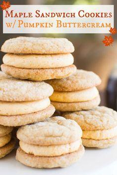 Maple Pumpkin Sandwich Cookies A baJillian Recipes-9(title)