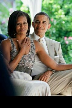 Barack and Michelle. When a couple is a team, no matter what, they will prevail.