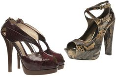 Fendi Shoes- Love the animal print on the right!!!