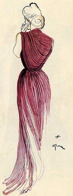 René Gruau per Madame Gres, 1945
