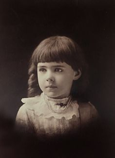 +~+~ Antique Photograph ~+~+  Beautiful Solemn Girl