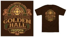 Golden Hall Ale from the Brewers of Rohan. Lord of the Rings shirt.