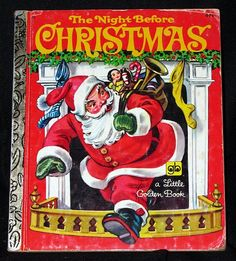 vintage 1976, The Night Before Christmas, Little Golden Book 20. $5.00, via Etsy.