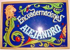 Cartel fileteado para un encuadernador / Poster for a bookbinder. Fileteado Porteño