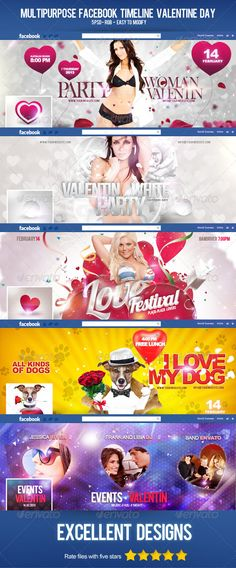 valentine's day cards psd