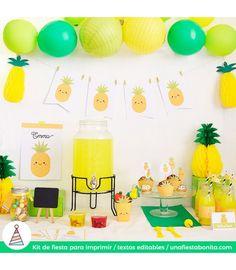 kit de fiesta piña verano