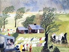 Taking in the Laundry - Grandma Moses -