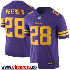 Men's Minnesota Vikings 28 Adrian Peterson Nike Purple Color Rush Limited Jersey
