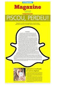Matéria sobre o Snapchat publicada no jornal O POPULAR em maio de 2015