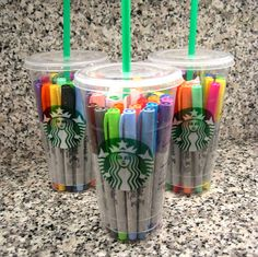 What teacher wouldn't like a gift card to Starbucks and a variety of pens (or markers) for their classroom?! Great #backtoschool idea or #teacherappreciation gift.