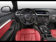 Audi S4 interior. red inside...so sexy, missing by baby car ;(