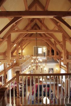 love the beams, vaulted ceilings, and open floor plan!