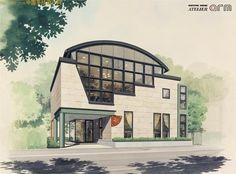 Diễn họa kiến trúc của sinh viên Trung quốc - THIẾT KẾ 3D
