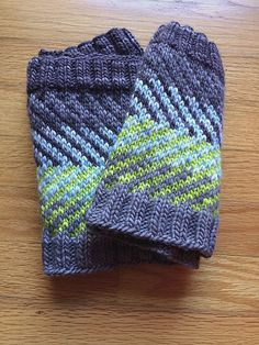 Chevzam by Alex Tinsley, knitted by fromraintohope | malabrigo Worsted in Frost Gray, Blue Surf and Apple Green