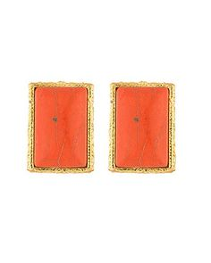 Voylla Womens Pair Of Stud Earrings With Bright Orange Stone * Check this awesome product by going to the link at the image. Note:It is Affiliate Link to Amazon.