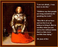 St. Joan of Arc, pray for us!