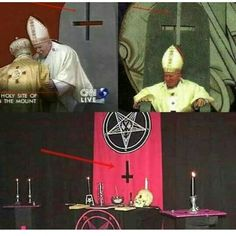 "Vatican is horrific place - Lucifer's worship, huge Satanic rituals in the undergroud places....where are children and animals....because of rituals of sacrifice...to Satan....their ""God"". These evil men brainbashing people...wake up!"