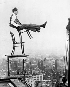https://www.instagram.com/lifenow.rocks/ >>>>Tag your friends<<<<<  lifenow.rocks A daredevil balances on the back legs of a chair atop other furniture, 20 stories up in New York, circa 1920. Photograph by George Rinhart. . . . . . . . . . . VIA@historyphotographed #inspiredbyyou #motivation #beachesnresorts #vscocam #instagood #travellersautobarn #fashionblogger #californication #beachday #beautifuldestinations #awesomeglobe #corner #flynorwegian #bestvacations #bali #wo..