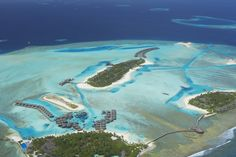Aerial view of Anantara Dhigu, Maldives