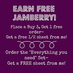 This sale is offered on www.facebook.com/khberrylicious until January 31, 2014! #free #jamberry