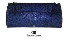 Deborah Barnet Shagreen Clutch HANDBAGS, BAGS, CLUTCHES
