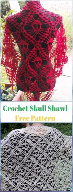 Crochet Skull Shawl Free Pattern - Crochet Skull Ideas Free Patterns