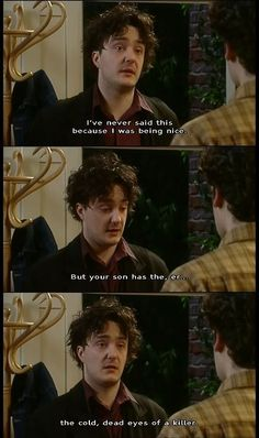 This show is hilarious and terribly underrated. British Sitcoms, British Comedy, British Humour, Black Books Quotes, Tv Quotes, Dylan Moran, English Comedy, Little Britain, The Mighty Boosh