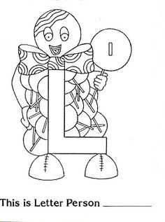 Brilliant Beginnings Preschool L Is For Lollipop Letter Person Coloring Page Printable