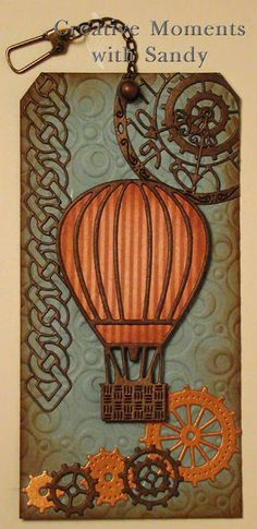 #cheeryld #shulsart Our first post today is from designer Sandy Hulsart. Dies used: Pocket Watch w/Angel Wing (Steampunk Series) - B362; Hot Air Balloons w/Angel Wing (Steampunk Series) - B360; Gears (Set of 9) - B340 http://www.cheerylynndesigns.com/steampunk/