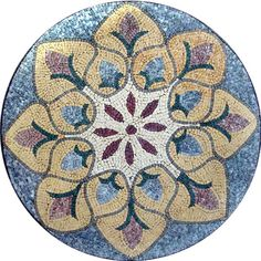 MD152 Marble Mosaic Medallion Tile I find this one suggestive of peacock feathers